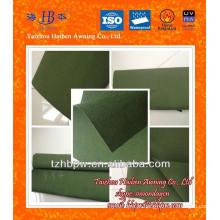 Verde-oliva impermeável tecido de lona de poliéster