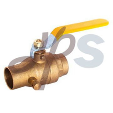 brass solder ball valve with drain hole