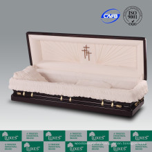 Люкс полный диване американский махагон ларцы гробы для похорон кремации
