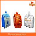 Пластмассовый носик с набивкой из стороны в сторону для упаковки напитков