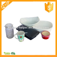 Eco-Friendly Durable Reusable Silicone Food Covers