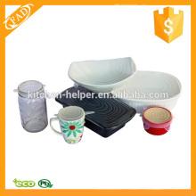 Экологически чистые многоразовые силиконовые крышки для продуктов питания