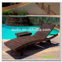 Audu Rattan Outdoor Pool cadeira de praia de alumínio