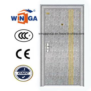 304 acier inoxydable extérieur extérieur porte métallique de sécurité (W-GH-01)