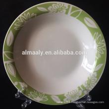 porcelain strengthen edge plate deep plate