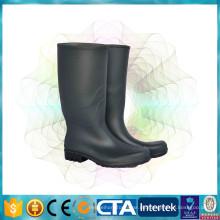 CE-Zertifizierung wasserdichte schwarze hohe Regenstiefel