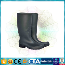 CE certification waterproof black high rain boots