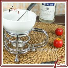Chocolate de fondue quente com forquilha