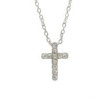 Cubic Zirconia Trendy Cross Pendant Necklace