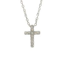 Colar de pingente de cruz na moda em zircônia cúbica