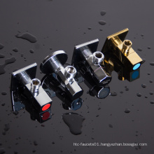 Chrome plated 90 degree brass angle valve