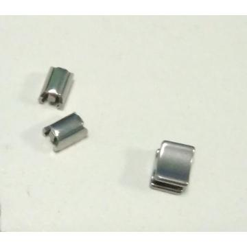 Stainless steel U-shape Top Stop for bag Zipper
