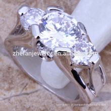 anel de noivado de três pedras de diamante anel de design simples anéis de meninos moda