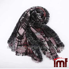 Wholesale wool scarf with rex rabbit fur