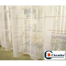Tela de cortina de organza, cortinas de seda, tela para cortinas