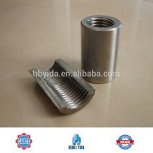 Acoplador de barras de refuerzo de empalme mecánico líder para la construcción y la construcción