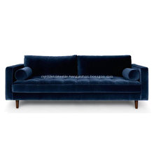 Sven Cascadia Luca Velvet Sofa Reproduction