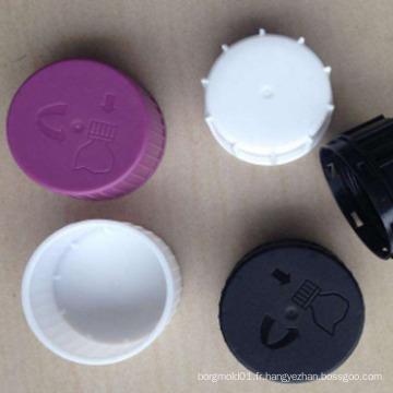 OEM personnalisé DOUBLE CAP Moule pour injection liquide nouvelle conception en plastique toxique moule de bouchon liquide toxique