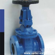 Non-Rising Stem Cast Iron RF Flanged Resilient Gate Valve