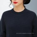 Lady′s 100% Cashmere Sweater Lace Hem for Wholesale