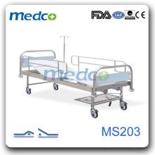 MS203 Lit d'hôpital manuel avec roues