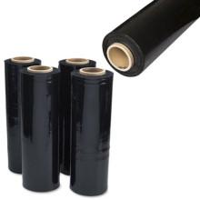 Film d'emballage PE étirable à la main colorée noire