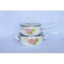 china made enamel saucepan set&cookware set