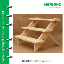 Wooden table top customized display stand