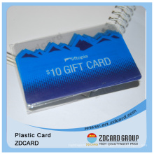 Plástico Full Color impressão Transparente Supermercado Gift Card