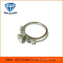 Joyería de la manera solo anillo de piedra de cristal