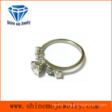 Fashion Jewelry Single Glass Stone Ring