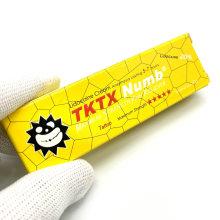 2021 New Version Tktx Tattoo Numbing Cream Lidocaine Pain Relief Yellow Box 10g