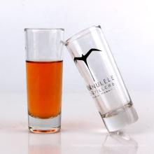 60ml thick based glass shot tumbler with printing 2oz