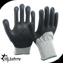 SRSAFETY 3/4 coated nitrile with spandex coated combire nitirle dots mechanic/safety gloves