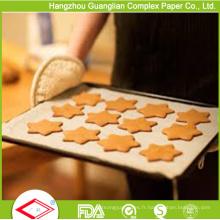 Papier de boulangerie traité par silicone résistant à hautes températures de 40g