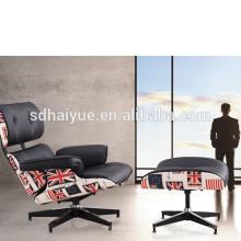 оптовая продажа европейской роскоши гостиной loune до стула, телевизор и гостиная кресло с пуфиком