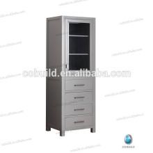Gabinete lateral alto independiente moderno, gabinete de madera de la ropa de baño