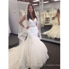 Sirena vestido de novia de la novia real