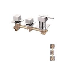 Triple  handle shower taps bathroom shower faucet