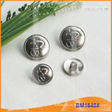 Botón de aleación de zinc y botón de metal y botón de costura de metal BM1645