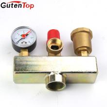 GutenTop High Quality Calefacción por suelo de latón Válvula de seguridad Componente de seguridad de tres piezas de la caldera