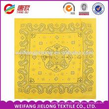 Impressão feita sob encomenda barata do bandana do algodão 100%