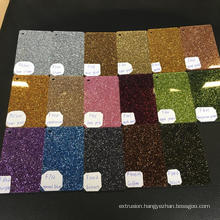 50x 70mm 17colors Laser Cutting Colorful glitter cast acrylic sheet