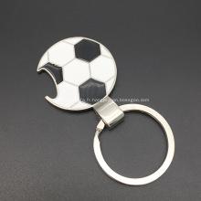 Forme de football Keychain avec décapsuleur