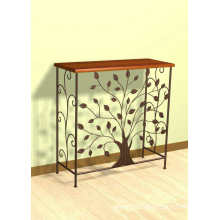 Metal and Wood Tree Console table - Tree Design
