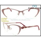 2015 New Metal (Stainless Steel) Optical Frames for Women/High-End Ultra-thin Fashion Eyewear/Cat Eye Shape