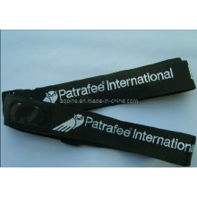Luggage Belt Lanyard with Jacquard Logo