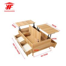 Mesa de centro de madera de diseño para sala de estar
