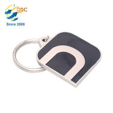 Cadeaux gravés en métal promotionnels promotionnels faits sur commande bon marché de promotion de porte-clés