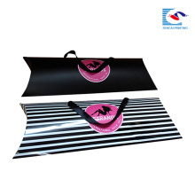 benutzerdefinierte Haarverlängerungen Kissen Box Verpackung